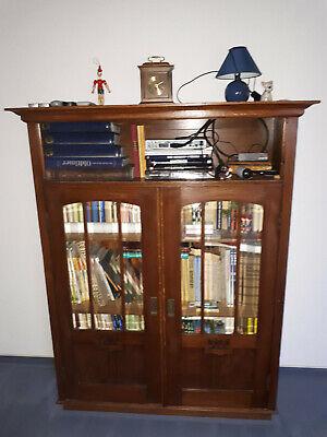 Ehrlich Antiker Bücherschrank Restauriert Und Gut Erhalten, Breite: 122 Cm, Höhe: 151 Cm