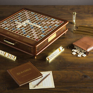 Image Is Loading Scrabble Luxury Collectors Edition Wood Cabinet Classic  Board