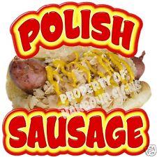 Polish Sausage Decal 14 Hot Dog Concession Cart Food Vendor Truck Vinyl Sticker