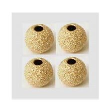8x 8mm yellow 14k Gold Filled Stardust sparkle star dust round Bead Spacer GS26