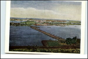 Kuenstlerkarte-Stadt-NEUSATZ-Jugoslawien-nach-kolorierten-Stahlstich-Postcard