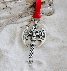 BAT WING SKELETON Pewter Christmas ORNAMENT Holiday