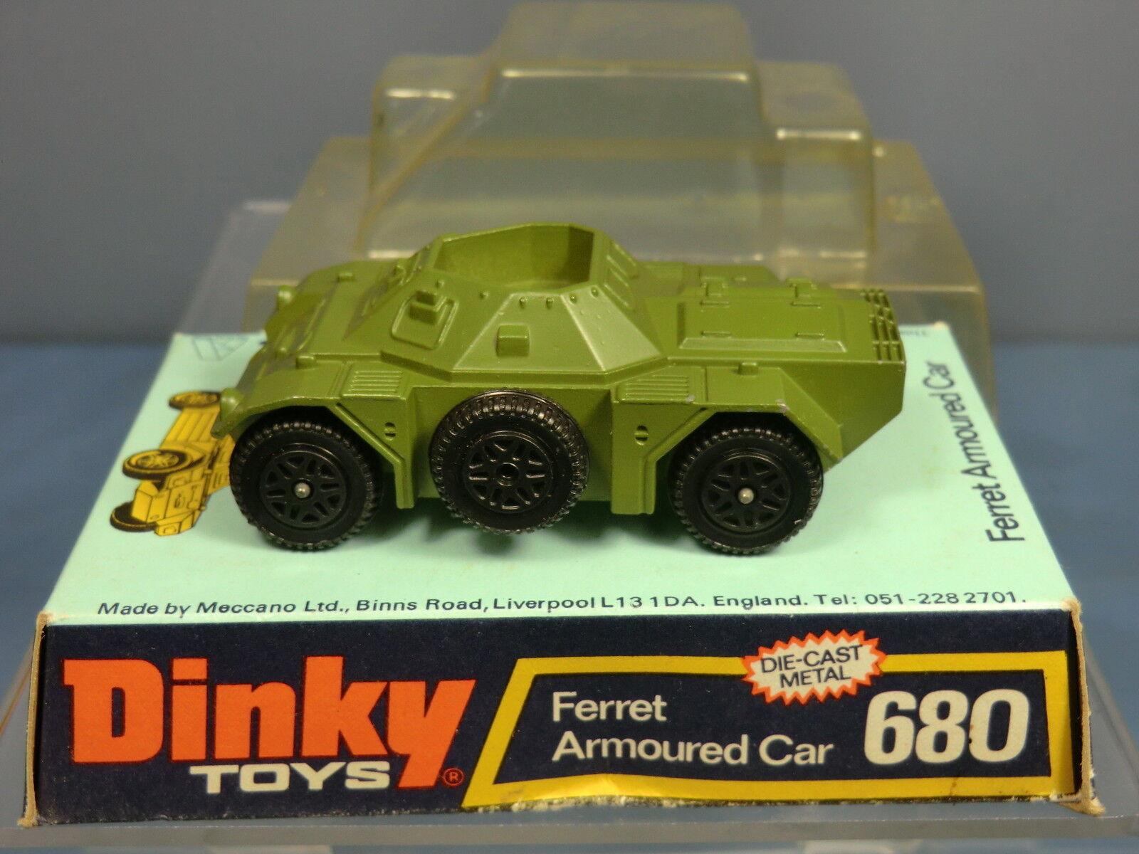 DINKY TOYS MODEL No.680 Furetto VERDI AUTOBLINDA versione  VERDI Furetto  Nuovo di zecca con scatola 83e6a4