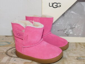 b382b8b7e412 NEW INFANT BABY SIZE 4/5 M UGG KEELAN SUEDE SHEEPSKIN BOOTIES BOOTS ...