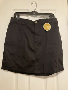 Riders-By-Lee-Black-Midrise-Skirt-Skort-Size-14M-Nwt