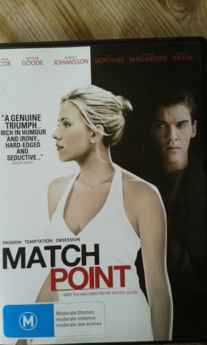 1 of 1 - Match Point - DVD Scarlett Johansson - Wood Allen - Dostoevsky!