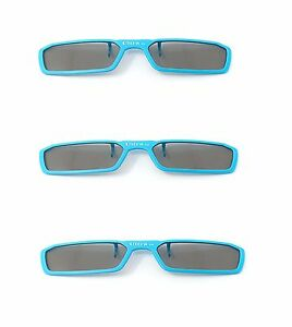 New-3-Pairs-of-Clip-On-3D-Glasses-Blue-Polorised-Flip-Up-For-LG-Tv-Cinema-RealD