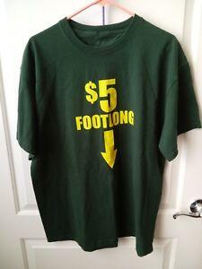 aba90bfe Surf Style Five $5 Dollar Foot Long Men's Green T-Shirt Size Xl | eBay