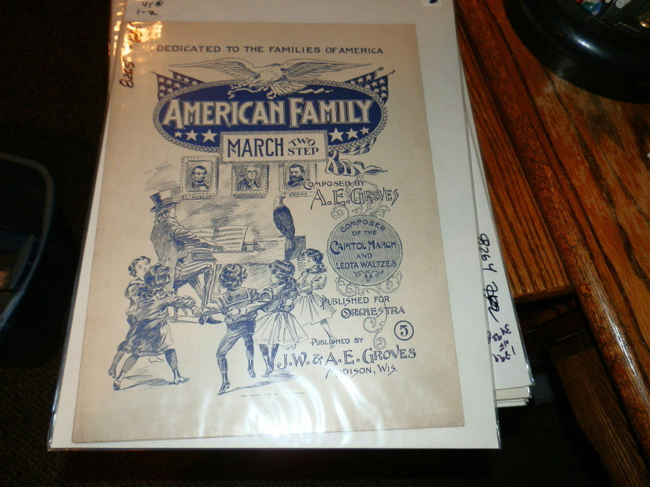 8265,American Family March,Rare,1899,Sheet Music