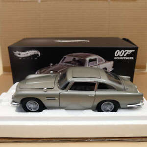 Hot-wheels-ELITE-1-18-Aston-Martin-DB5-Goldfinger-007-JAMES-BOND-BLY20-Diecast