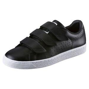 Details zu PUMA Basket Classic Strap Black and White Sneaker Sport Classics Schuhe Männer