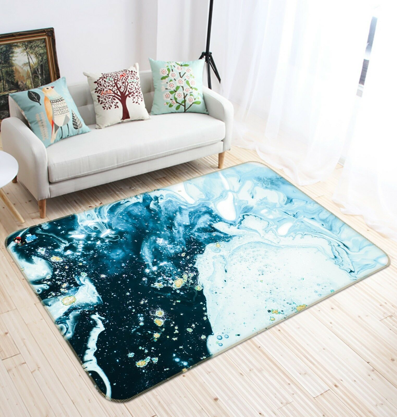 3D bianca Snow Galaxy 4 Non Slip Rug Mat Room Mat Quality Elegant Photo Carpet AU