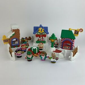 Fisher-Price-Little-People-Natale-su-Main-Street-Light-Up-Musicali-Playset