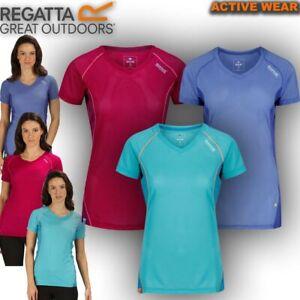 Regatta-T-Shirt-Womens-Volito-Walking-Outdoor-Running-Hiking-Work-Gym-Sport-Top