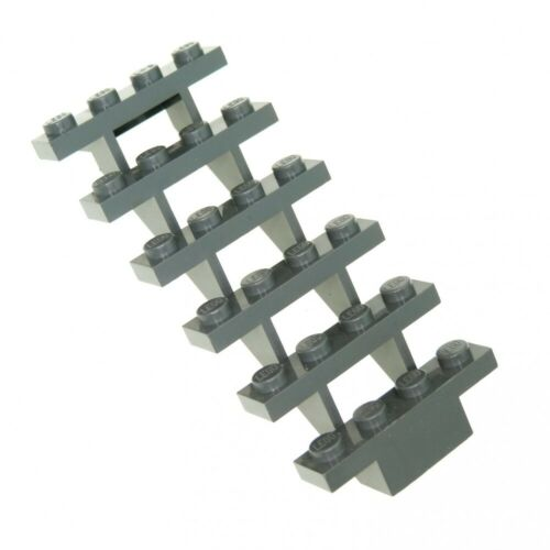 1x Lego Leiter neu-dunkel grau 7x4x6 Treppe Stair 4644 7937 30134