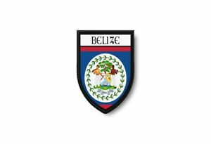Flag patch printed badge country belize