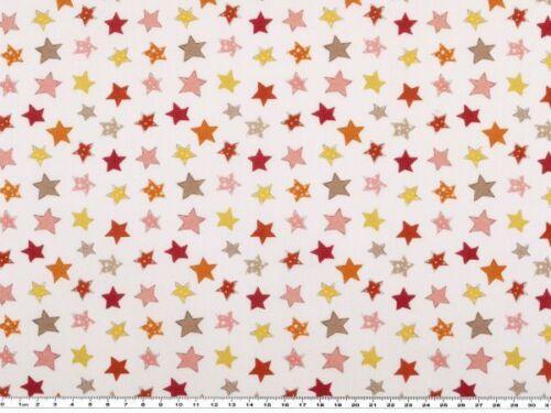 Digitaldruck Sterne Baumwolle weiß-mehrfarbig 150cm