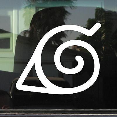 Naruto Anime Manga Logo car laptop Akatsuki Cloud 2 pack vinyl decal Stickers