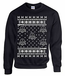 Star wars christmas ugly sweater darth vader sweatshirt black new
