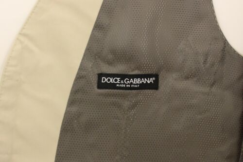 xl Nieuw Stretch Us42 Gabbana vest It52 Dolce 440 van Vest Beige Top katoen wnn7OU6gx