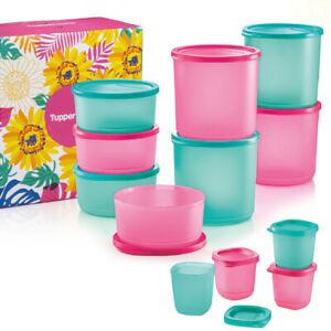 Tupperware-Summer-Fresh-Round-Airtight-Liquid-Tight-Containers-Free-Shipping