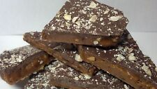 Jalapeno Dark Chocolate w/ Almonds Toffee - Spicy! - 1/2 LB Bag