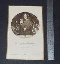CHROMO 1924 IMAGE PIEUSE CATHOLICISME HOLY CARD COMMUNION VIERGE HOSTIE INGRES