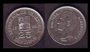 VENEZUELA 25 CENTIMOS 1989 E12 - France - Région: Amérique du Sud Métal: Nickel Pays: Vénézuéla Année de frappe: 1989 - France