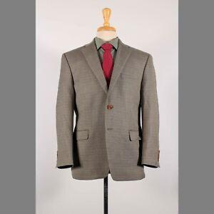 Ralph Lauren 40S Brown Hounds Wool Two Button Sport Coat Blazer Jacket