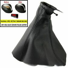 VECTRA C SIGNUM 2002-05 GEAR GAITER REAL BLACK LEATHER + KNOB COVER