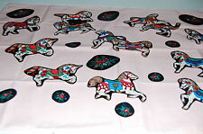 "Lot of 22 PCS Carousel Horses & Matching Floral Sew On Appliques 7"" X 7"" NEW (B)"
