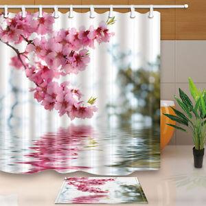 World map Bathroom Shower Curtain Waterproof Fabric 12 Hooks 71*71inch Hot new