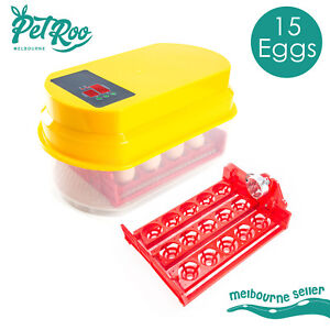 Egg Incubator Fully Automatic Digital LED Hatch Turning Chicken Duck Poultry 15
