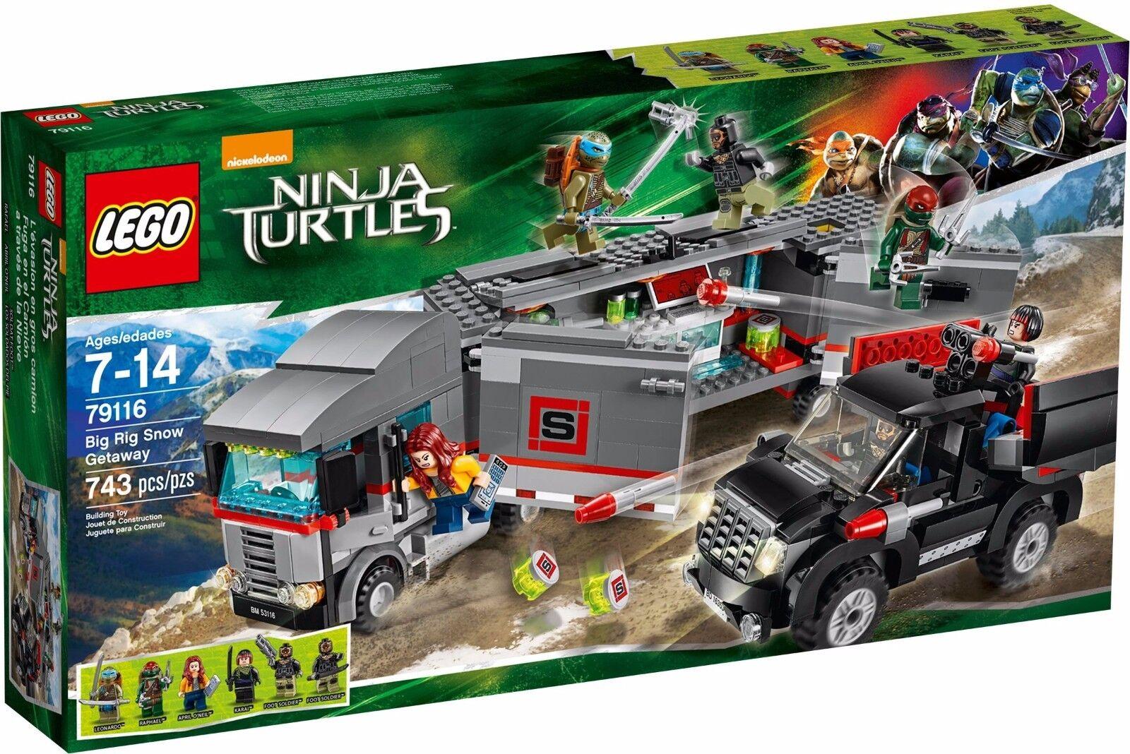 Lego TMNT 79116 Big Rig snow Getaway BNIB Teenage Mutant Ninja Turtles