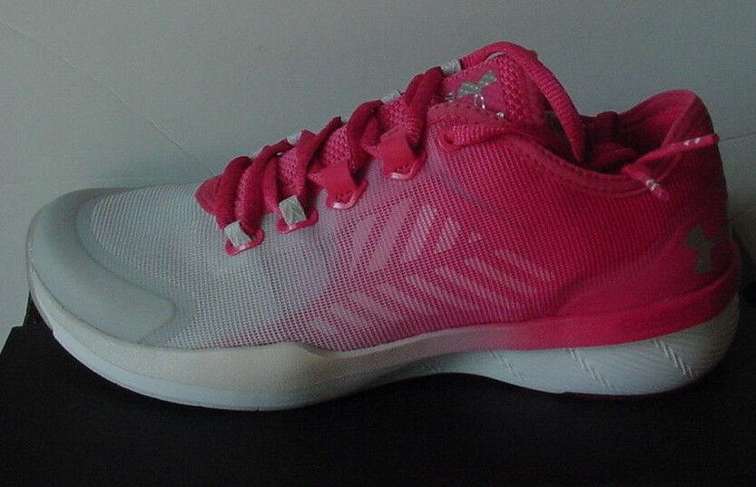 NWOB Under Armour Charged Push Training 285796-692 Pink Melon Damenschuhe Sz 6 7.5 8