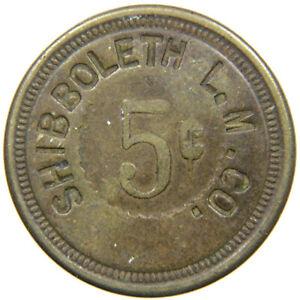 CADET, MO, Shibboleth Lead Mining, Late 1800s, 5¢ Company Store Scrip, Unlisted.