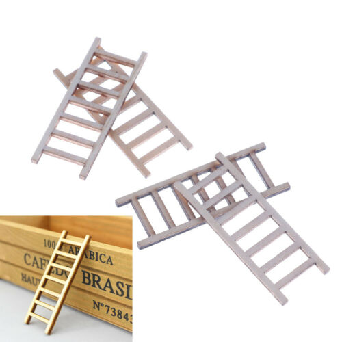 4X DIY Gift Dollhouse Miniature Wood Stairs Toy  Garden Fairy Home Decoration BR