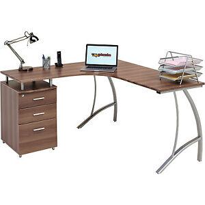 Home Office Corner Laptop Table W Drawers Piranha