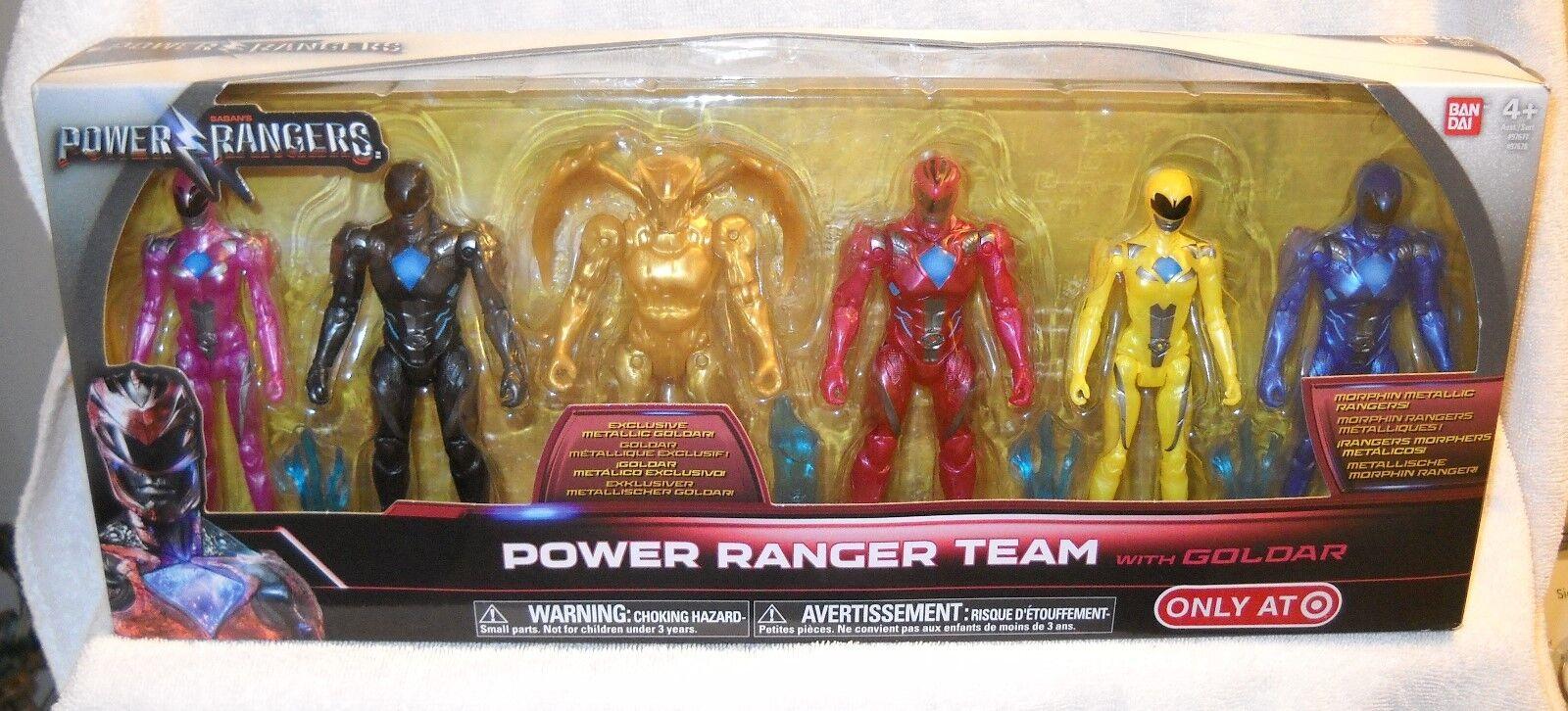 9475 NRFB Ban Dai Target Power Rangers Team with Goldar Boxed Set