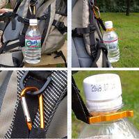 2x Carabiner Water Bottle Buckle Hook  Holder Clip Camping Outdoor