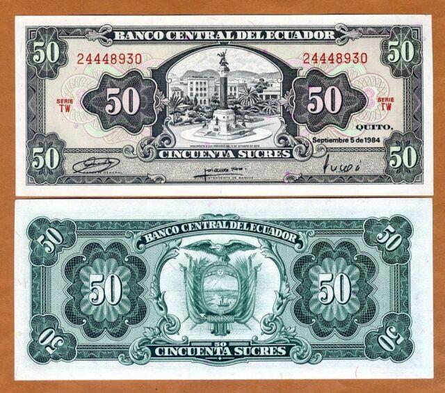 Pick 130 50,000 12-7-1999 Ecuador 50000 Sucres 130? UNC /> Last Pre-USD$