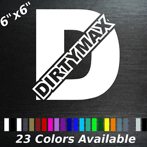 Dirty Dirtymax Decal Sticker for Chevy Chevrolet Duramax Diesel GMC Dirty Blue
