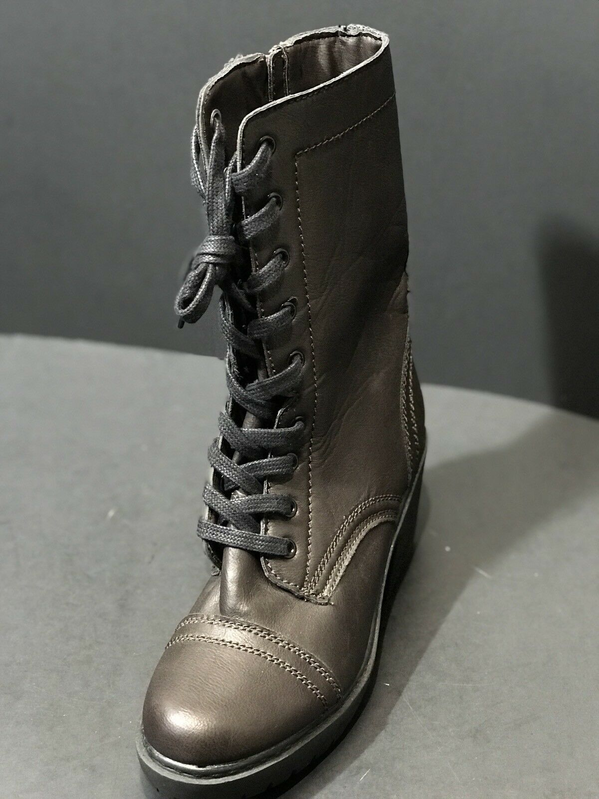 NEW REPORT WOMENS BROWN LACE UP ZIPPER BOOTS SIZE US 8.5 NEW