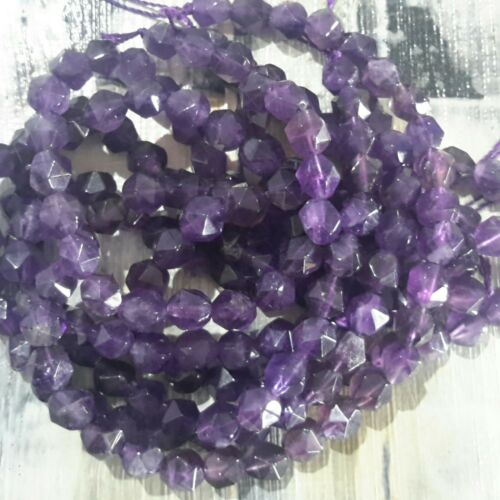 Oz Seller Star Cut Facet Approx 32pcs Free postage Natural Amethyst  6mm