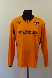 Image is loading WOLVERHAMPTON-Wanderers-WOLVES-home-shirt-jersey-PUMA-2013- 01c217ed3