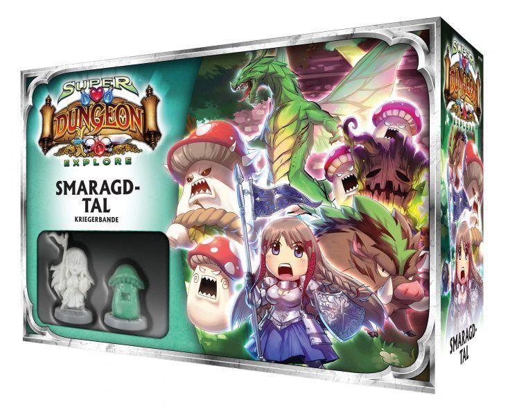 Súper Dungeon Explorar Smaragdtal Extensión (Alemán) Juego de Mesa Monstruo Sde