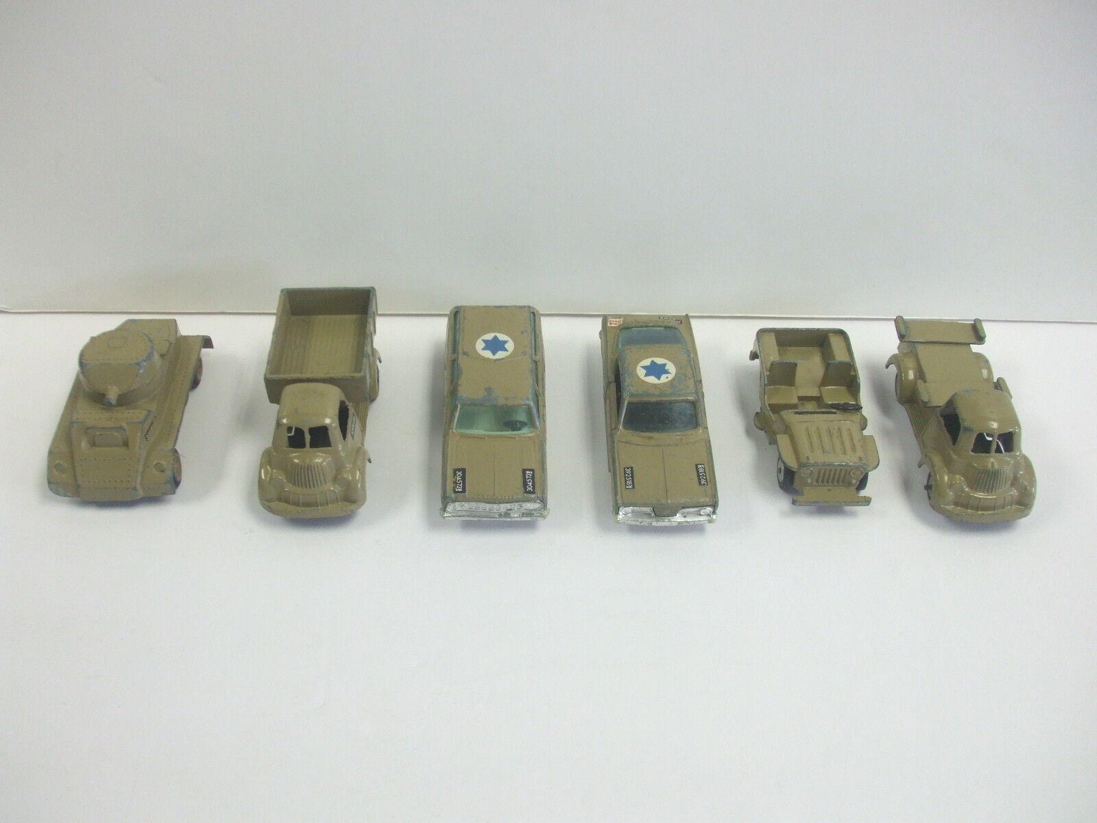 Lot de 6 différents GAMDA KOOR SABRA Israeli army Diecast véhicules militaires RARE