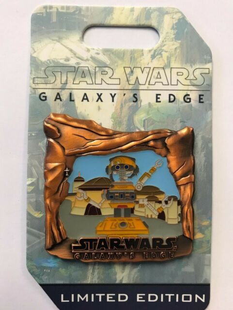 Disney Park Disneyland 2019 Star Wars Galaxy's Edge Countdown DJ R3X LE Pin #3