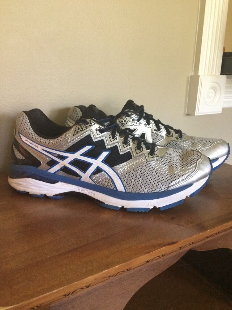 super popular e714c 2a34b ASICS GT 2000 V4 Men s Men s Men s Running Shoes Size 10 Silver White Blue  Black T606N