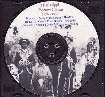 Choctaw Mississippi Indian Census Rolls 1926-1939 | eBay